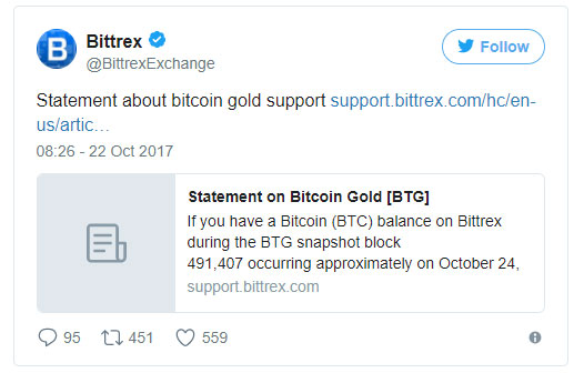 how to get bitcoin gold on bittrex